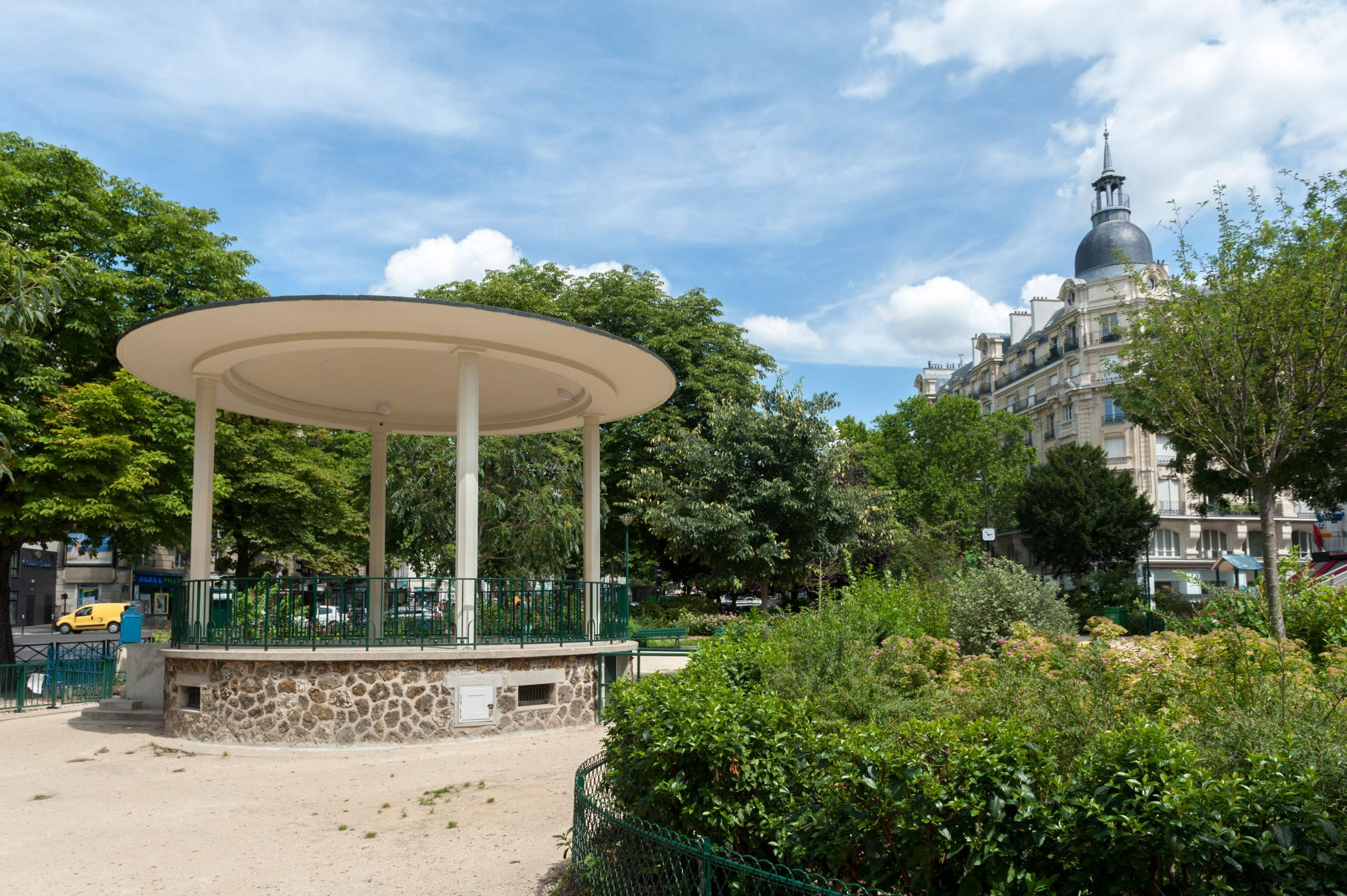 Haussmann-era Buildings and Park